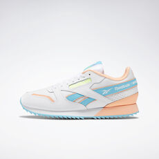 11112bb659d Reebok - Classic Leather Ripple ATI 90s White   Neon Blue   Solar Yellow  EG5221. 2 colors