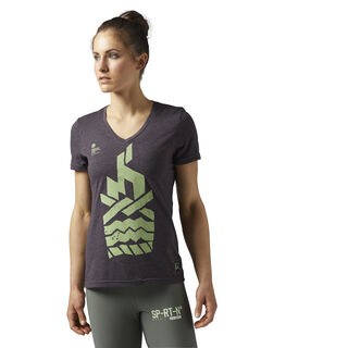 Reebok Spartan Race Tee Brown/Urban Plum BR0007