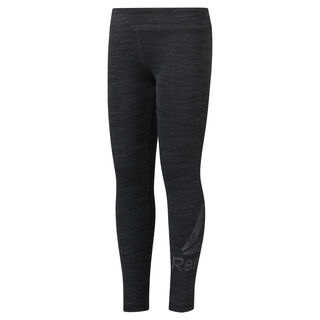 Girls Training Essentials Marble Melange Legging Black DH4375