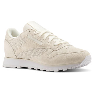 Classic Leather Woven EMB Beige/Chalk/White BT0006