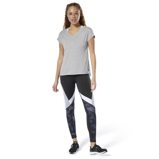 Reebok - T-shirt WOR Supremium Detail Medium Grey Heather DP6688