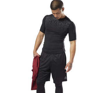 ACTIVCHILL Graphic Compression Tee Black D93794