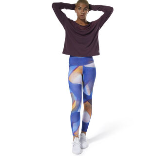 Yoga Lux Bold High-Rise Tights Crushed Cobalt DP5849