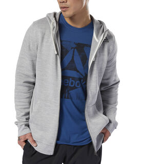 Training Essentials Marble Full Zip Hoodie Skull Grey D94187