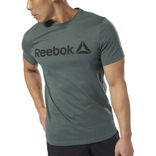 Reebok Linear Read Tee Chalk Green DH3787