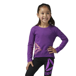 Girls Essentials Long Sleeve Shirt Aubergine BS1512