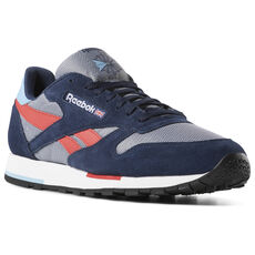 675412c967af Reebok - Classic Leather Cold Grey Navy White Red DV3836