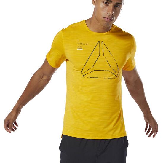Reebok - T-shirt à motif Training ACTIVCHILL Semi Solar Gold DU3934
