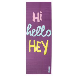 Hello 2 Sided Yoga mat Purple AN8016