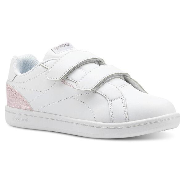Reebok ROYAL COMP CLN 2V Pastel-White Practical Pink Silver CN5063 c2343b4d6f4