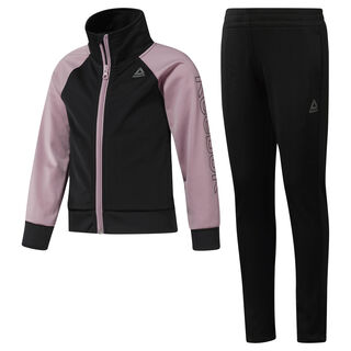 Girls' Workout Ready Tricot Tracksuit Black / Infused Lilac DH4329