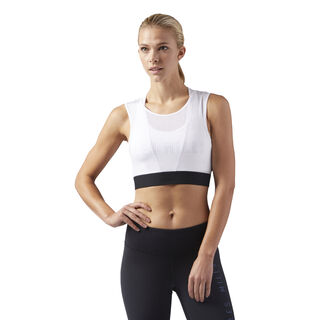 LES MILLS CROPPED TANK White CD6215