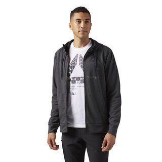 Speedwick Full Zip Hoodie Dark Grey Heather CG1272