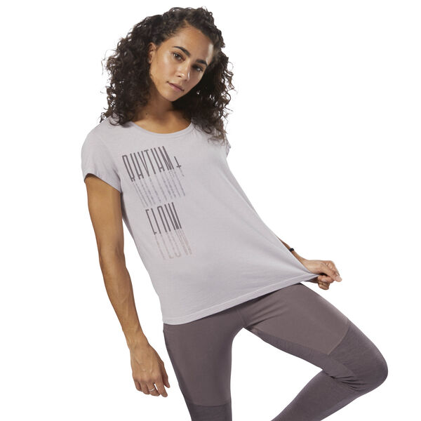 GS Rhythm+Flow Easy Tee Purple DH3765