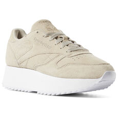 696042d6a3121c Reebok - Classic Leather Double Light Sand   White DV3629