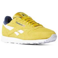 b01c5d3468fb06 Reebok - Classic Leather Urban Yellow Collegiate Navy DV4252