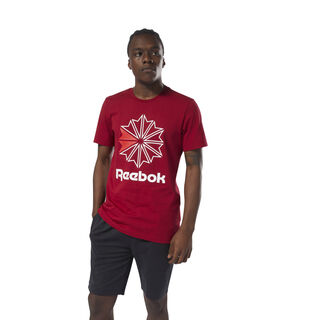 Reebok Classics Graphic T-Shirt Cranberry Red / White DH2096
