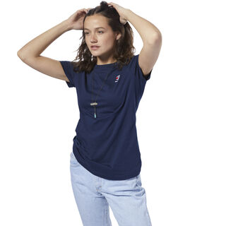 Classics Small Logo Tee Collegiate Navy DH1359