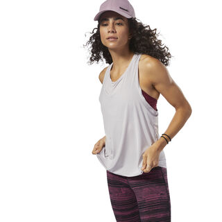 Perforated Speedwick Tank Lavender Luck D93963