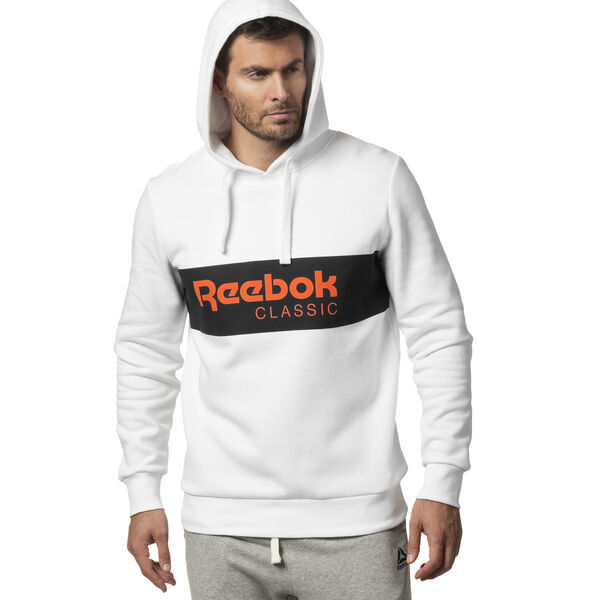 Classics R Unisex 'Over the Head' Hoodie White DX0149