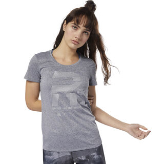 Running Reflective Graphic Tee Black D78939