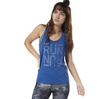 Running ACTIVChill Graphic Tank Bunker Blue CY4625