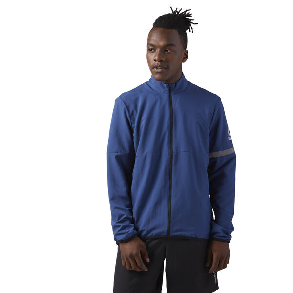 Running Woven Jacket Blue CD5691