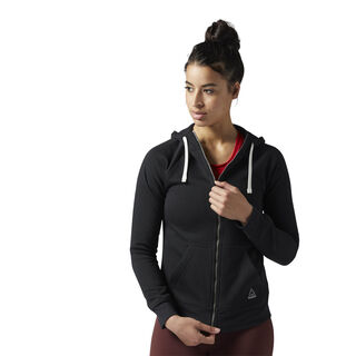 Training Essentials Fleece Full Zip Hoodie Black BS4115