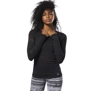 Burnout Long Sleeve Tee Black D93858
