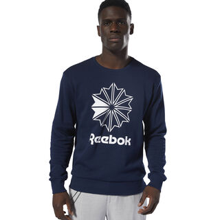 Classics French Terry Big Iconic Crewneck Collegiate Navy/White DT8121