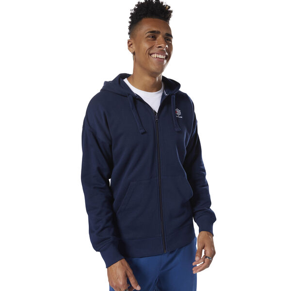 Classics Foundation Full-Zip Hoodie Blue DH2112