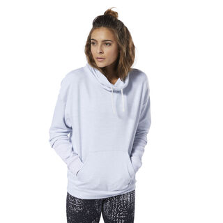 Training Essentials Marble Cowl Neck Sweatshirt White DU4911