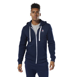 Classics Fleece Full-Zip Hoodie Collegiate Navy DT8128