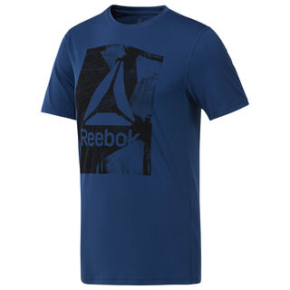 Workout Ready Graphic SMU Top Bunker Blue D94252