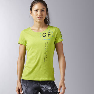 Reebok CrossFit Perforated Graphic Tee Kiwi Green B45240