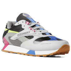 Reebok - Classic Leather ATI 90s Skull Grey   Blk   Pink   Lime DV5375 aa79dc4bb