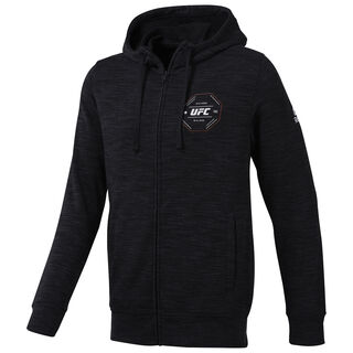 HOODED SWEAT UFC FG FULL-ZIP HOODIE BLACK CY7237