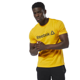 Reebok Linear Read Tee Semi Solar Gold DU4683