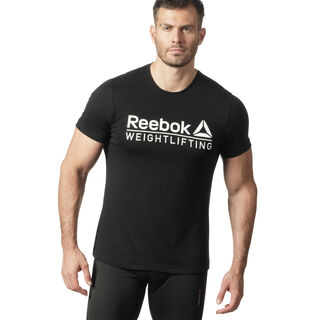 Reebok Weightlifting Tee Black / White DZ7733