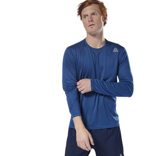 Running Long Sleeve Tee Bunker Blue CY4667