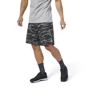 Reebok CrossFit® Epic Camo Cordlock Shorts Hunter Green DP4579