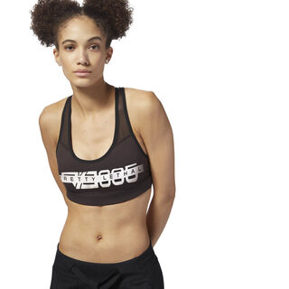 Reebok Hero Racer Bra - Graphic Dark Root DM7490