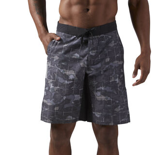 Reebok CrossFit Super Nasty Tactical Board Shorts Grey/Black CD7603