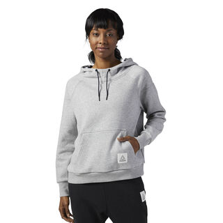 Workout Ready Pullover Hoodie Medium Grey Heather BP8237