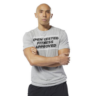 Reebok CrossFit® Open Tested Tee Medium Grey Heather DY0485