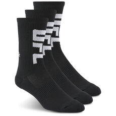 431216bd80a Reebok - UFC Ultimate Fan Ankle Sock Black   Black   Black AZ8784