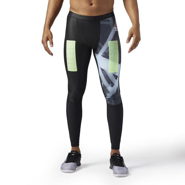 Reebok CrossFit Compression Tights - Heliorig Print Black CE2847
