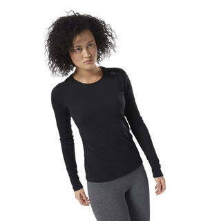 LES MILLS™ BURNOUT LONG SLEEVE TEE Black DJ2192