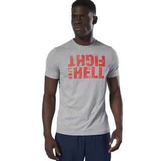 Fight Like Hell Tee Medium Grey Heather DU4701