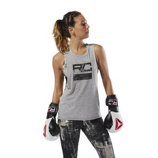 Combat Wordmark Tank Medium Grey Heather CY9994